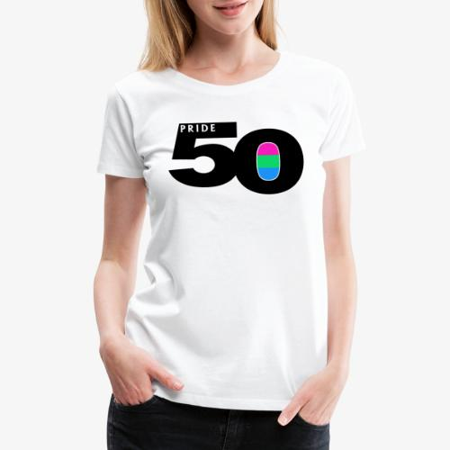50 Pride Polysexual Pride Flag - Women's Premium T-Shirt