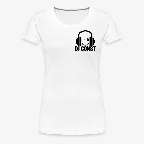 DJ Const Official Merch White - Women's Premium T-Shirt
