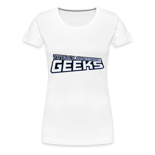 Logo For Totally Awesome Geeks - Women's Premium T-Shirt