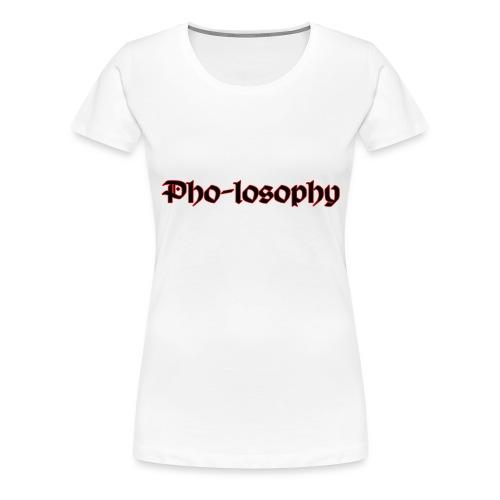 Pholosophy WordMark - Women's Premium T-Shirt