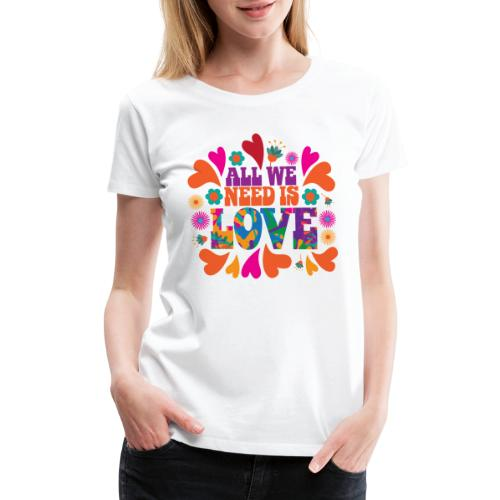 need love peace - Women's Premium T-Shirt