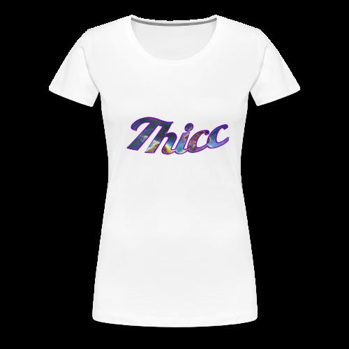 Thicc Galaxy - Women's Premium T-Shirt