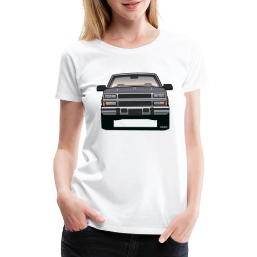 Design Icon: American Bowtie Silver Urban Truck - Women's Premium T-Shirt