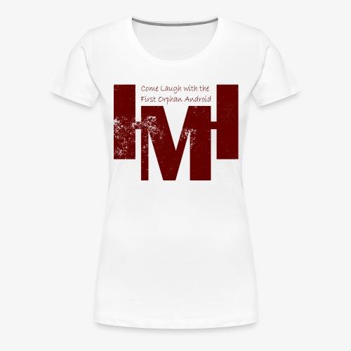 YouTube's Master Human: Grunge Underground Logo - Women's Premium T-Shirt