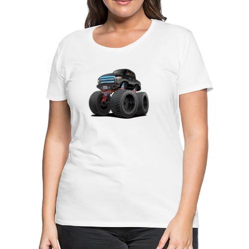 Monster Pickup Truck Cartoon - Women's Premium T-Shirt