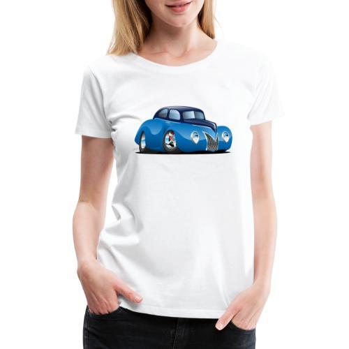 Classic 39 Street Rod Coupe Custom Car Cartoon - Women's Premium T-Shirt