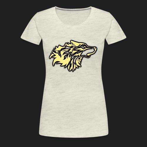 wolfepacklogobeige png - Women's Premium T-Shirt