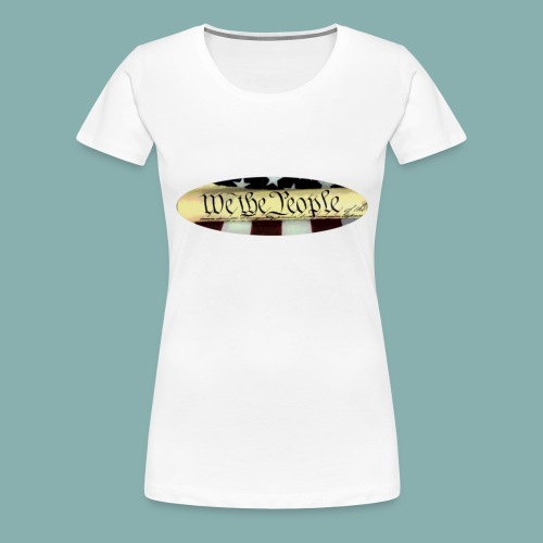We the People color oval - Women's Premium T-Shirt