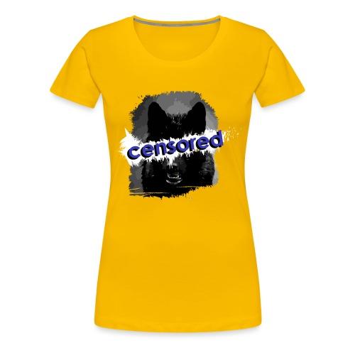 Wolf censored - Women's Premium T-Shirt