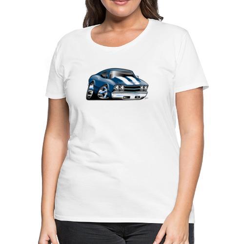 69 Muscle Car Cartoon - Women's Premium T-Shirt
