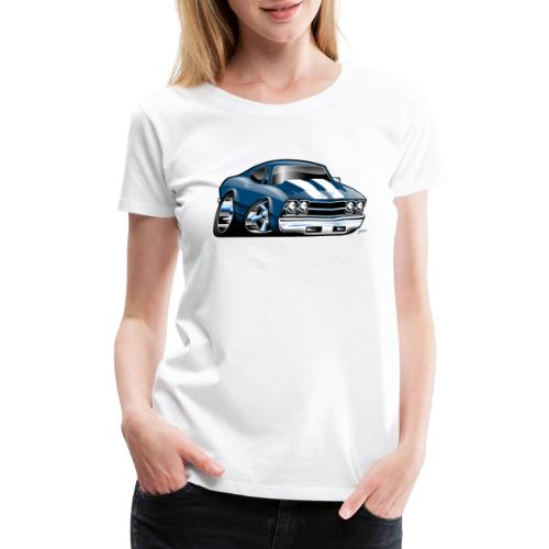69 Muscle Car Cartoon - Women's Premium T-Shirt