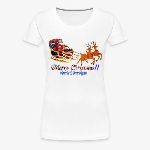 Merry Christmas-America - Women's Premium T-Shirt