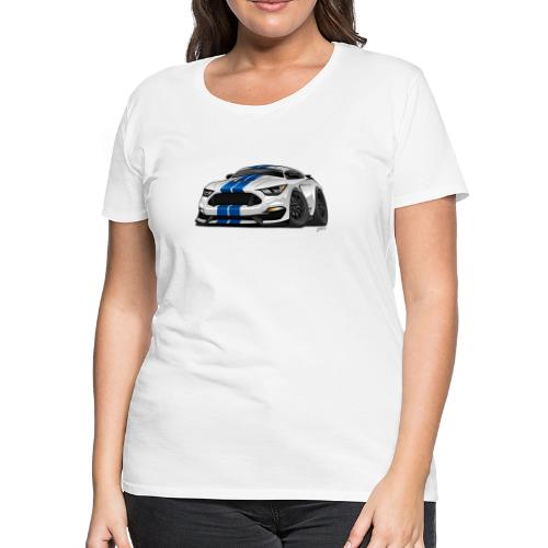 Modern American Muscle Car Cartoon - Women's Premium T-Shirt