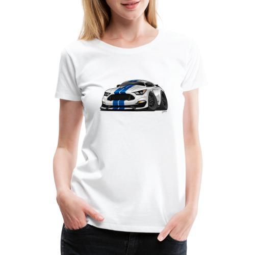 Modern American Muscle Car Cartoon - Women's Premium T-Shirt
