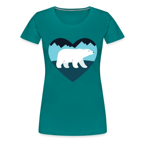 Polar Bear Love - Women's Premium T-Shirt
