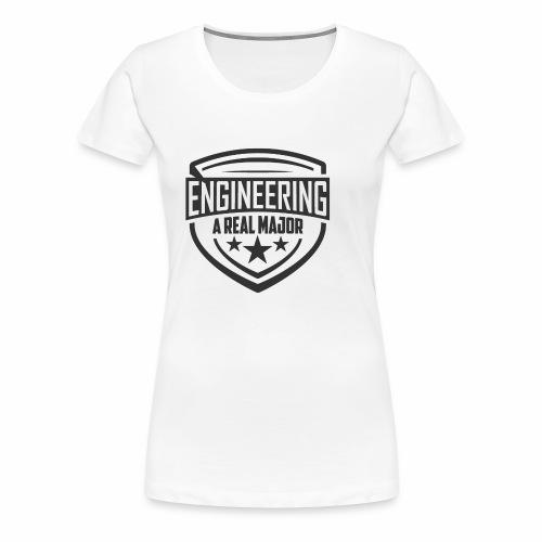 Engineering A Real Major Apparel - Shield Design - Women's Premium T-Shirt
