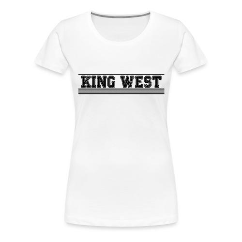 King West OG logo - Women's Premium T-Shirt