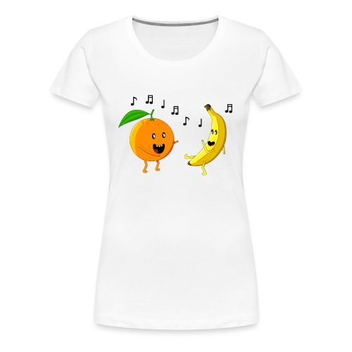 Dancing Orange and Banana - Women's Premium T-Shirt