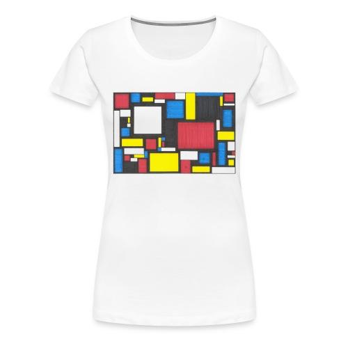 Geometric Pattern 2 - Women's Premium T-Shirt