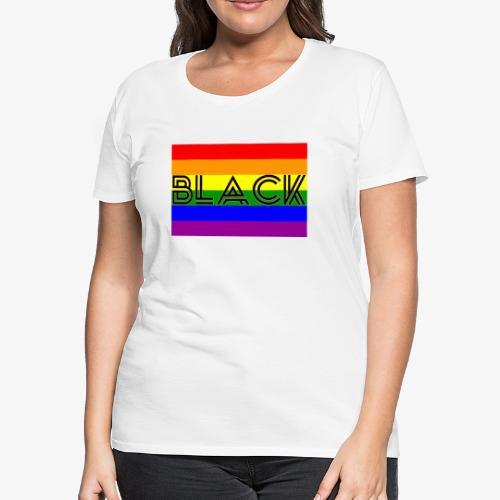 Black LGBTQ - Women's Premium T-Shirt