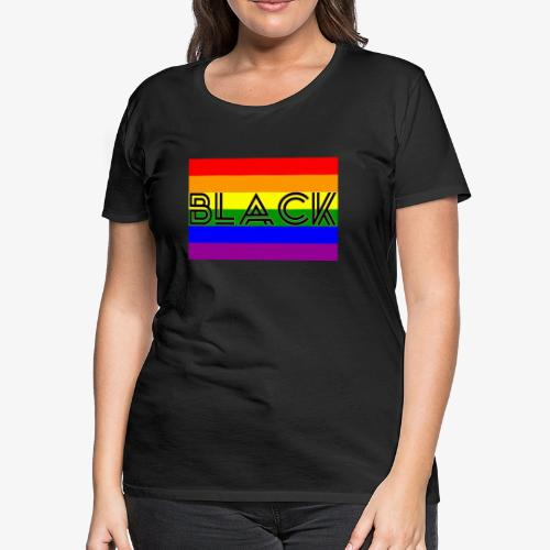 Black LGBTQ - Women's Premium T-Shirt