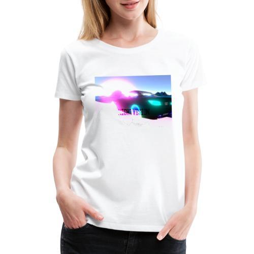 Nightvision Cyberspace Poster - Women's Premium T-Shirt