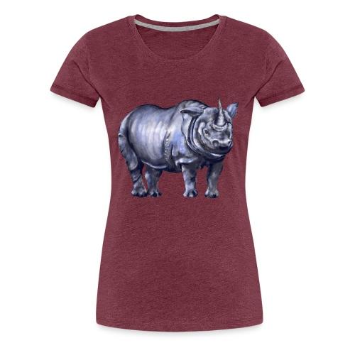 One horned rhino - Women's Premium T-Shirt