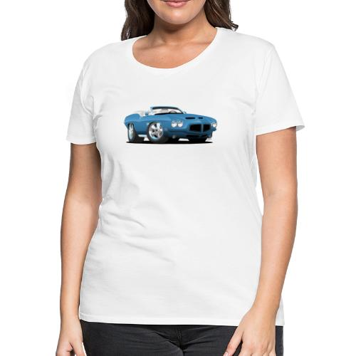 American Classic Seventies Convertible Car Cartoon - Women's Premium T-Shirt