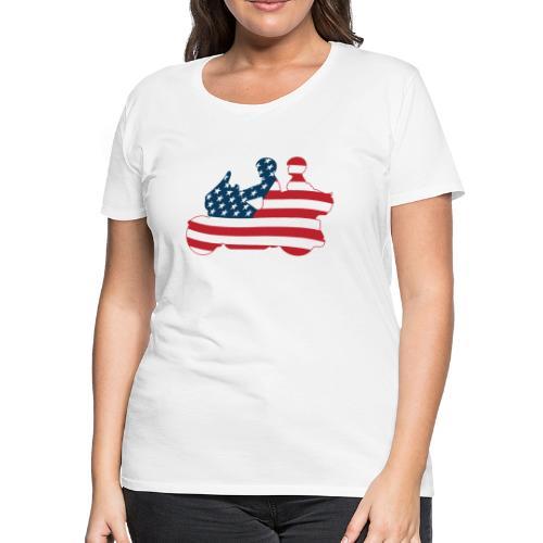 usa biker couple clr Tsmall - Women's Premium T-Shirt