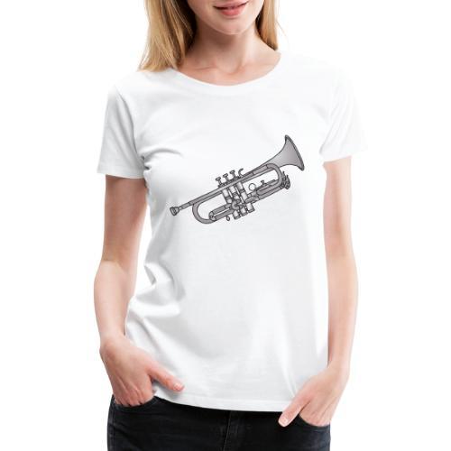 Trumpet brass instrument - Women's Premium T-Shirt