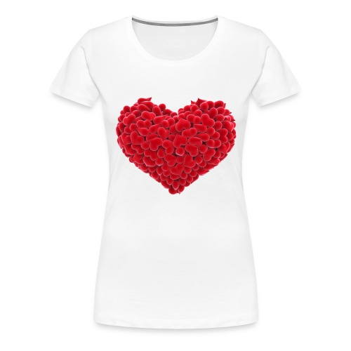 Valentine flower hear - Women's Premium T-Shirt