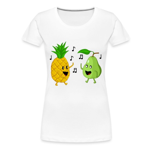 Dancing Pineapple and Pear - Women's Premium T-Shirt