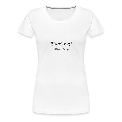 Doctor Who Spoilers - Women's Premium T-Shirt