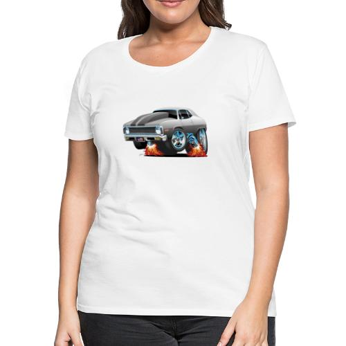 Classic American Muscle Car Hot Rod Cartoon - Women's Premium T-Shirt