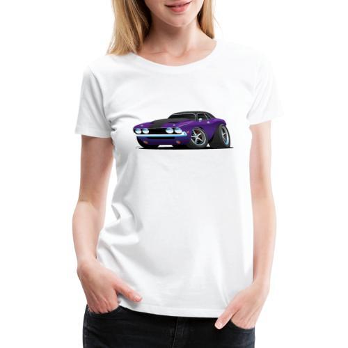 Classic Muscle Car Cartoon - Women's Premium T-Shirt