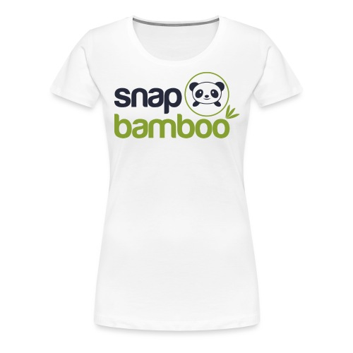 Snap Bamboo Square Logo Branded - Women's Premium T-Shirt