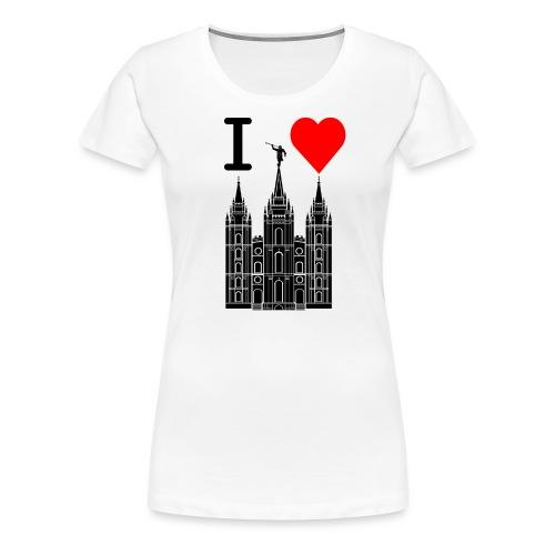 I (Heart) the Temple - Women's Premium T-Shirt
