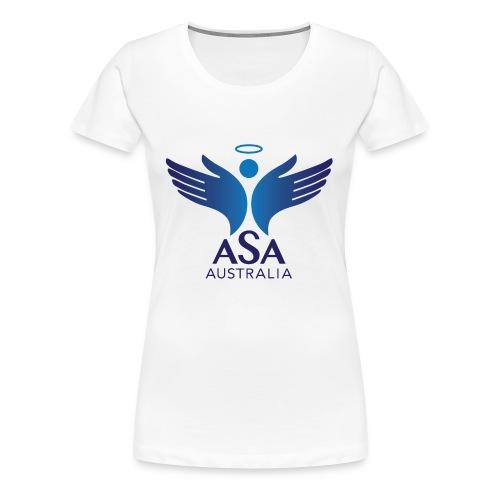 3459 Angelman Logo AUSTRALIA FA CMYK - Women's Premium T-Shirt