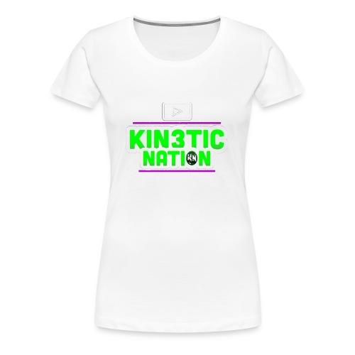 Green Kin3ticNation logo - Women's Premium T-Shirt