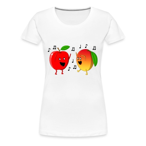Dancing Apple and Mango - Women's Premium T-Shirt