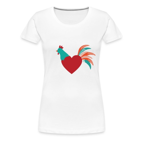 Chicken Heart - Women's Premium T-Shirt