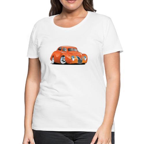 Custom Street Rod Vintage Car Cartoon - Women's Premium T-Shirt