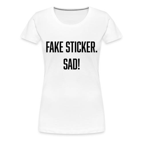 fake sticker - Women's Premium T-Shirt
