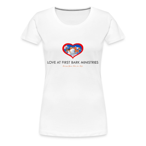 loveatfirstbarklogo - Women's Premium T-Shirt