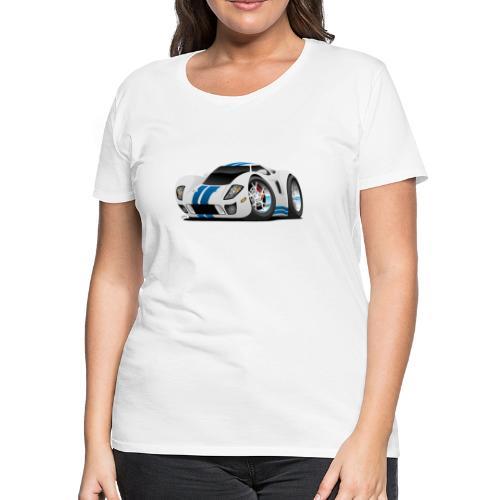 American Supercar Cartoon - Women's Premium T-Shirt