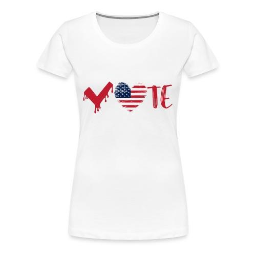 vote heart red - Women's Premium T-Shirt