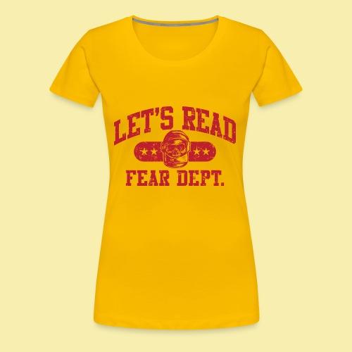 Athletic - Fear Dept. - RED - Women's Premium T-Shirt
