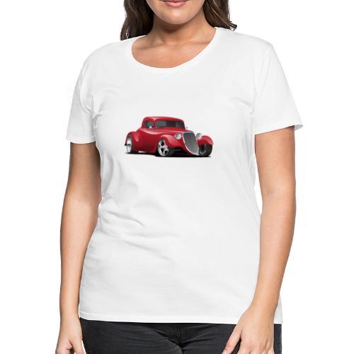 Custom American Red Hot Rod Car - Women's Premium T-Shirt