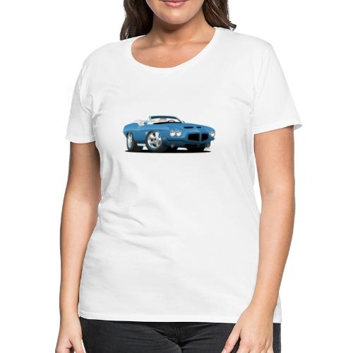 American Classic Seventies Convertible Car Cartoon - Women's Premium T-Shirt
