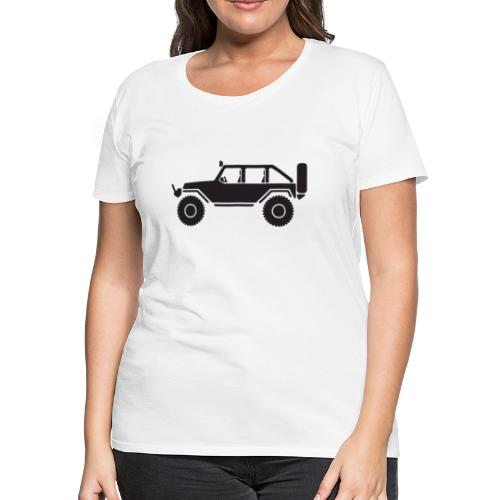 Off Road 4x4 Silhouette - Women's Premium T-Shirt